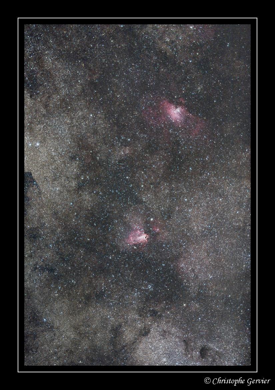 Nébuleuses M16 et M17 – © Christophe Gervier