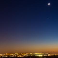 Conjonction Lune-Vénus – © Christian Lerme