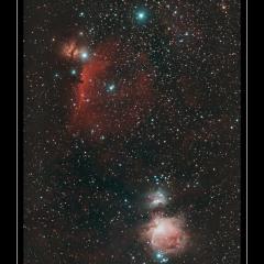 Nébuleuses dans Orion – © Christophe Gervier